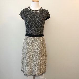 Rebecca Taylor Size 6 Tweed Studded Dress